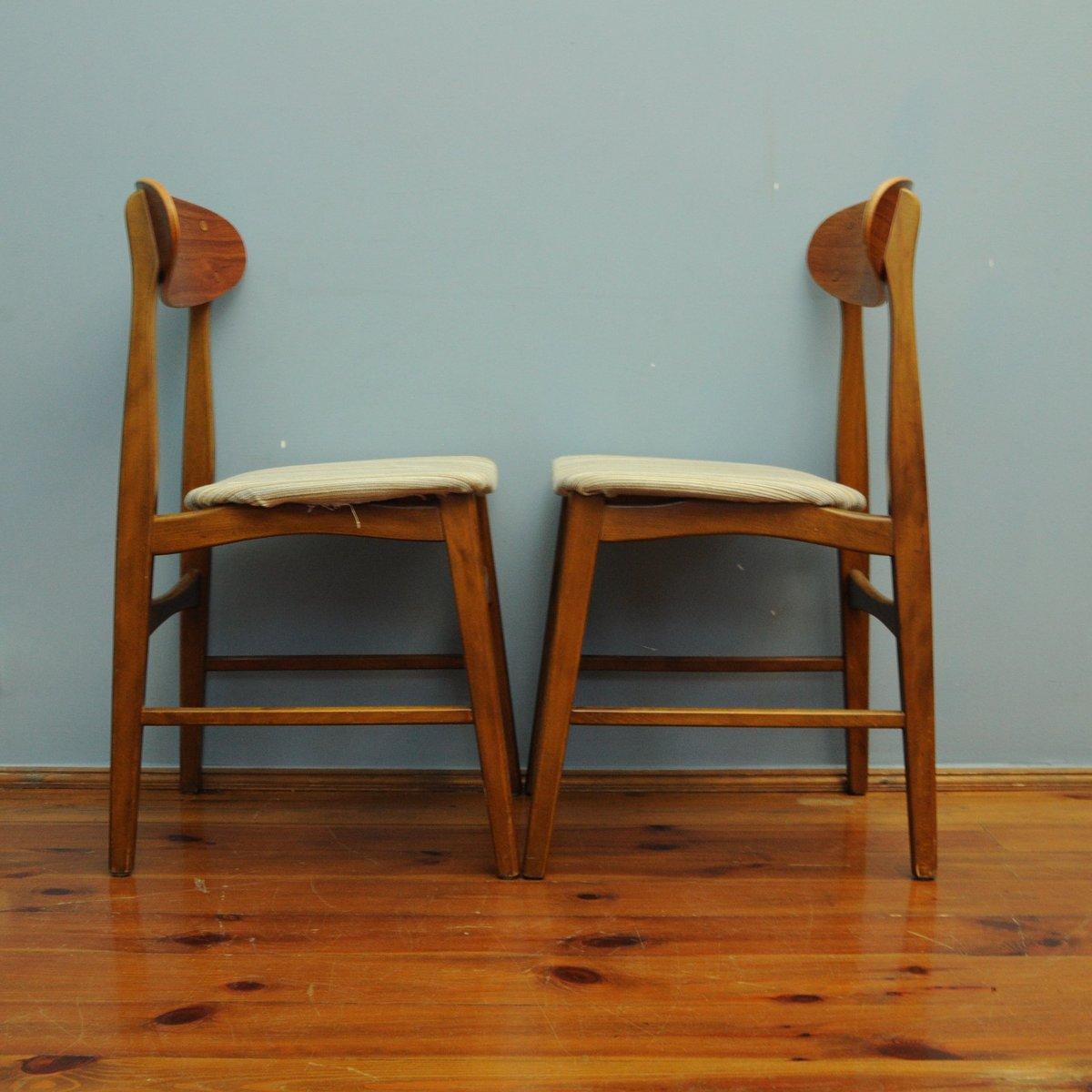 d nische teak st hle 1960er 2er set bei pamono kaufen. Black Bedroom Furniture Sets. Home Design Ideas
