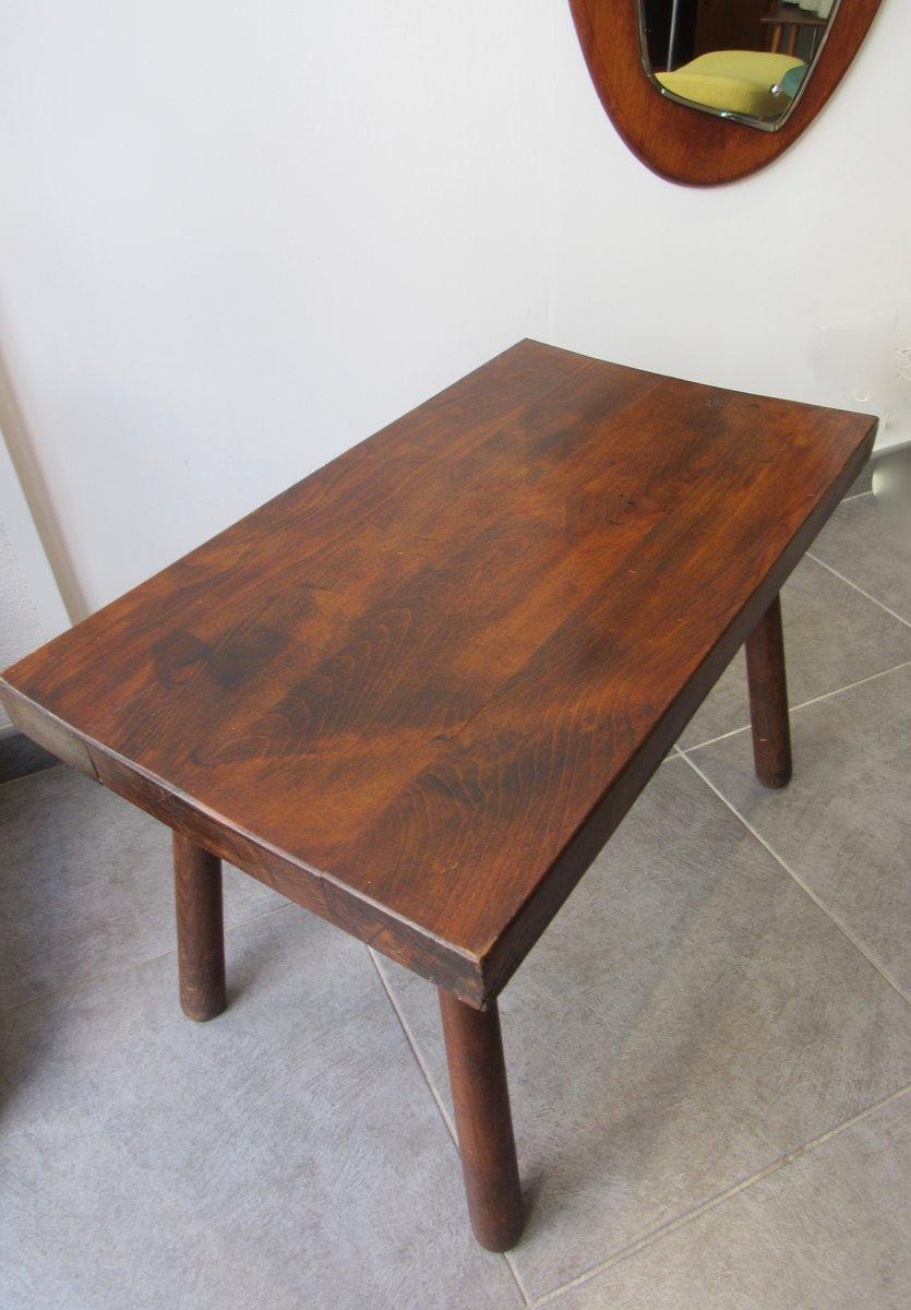 massiver tisch aus holz 1960er bei pamono kaufen. Black Bedroom Furniture Sets. Home Design Ideas