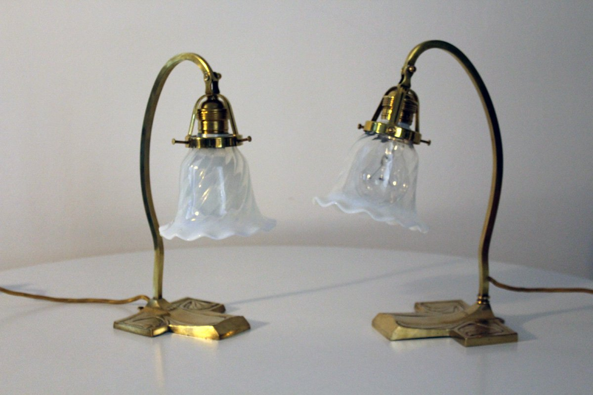 Viennese Art Nouveau Table Lamp, 1900s for sale at Pamono