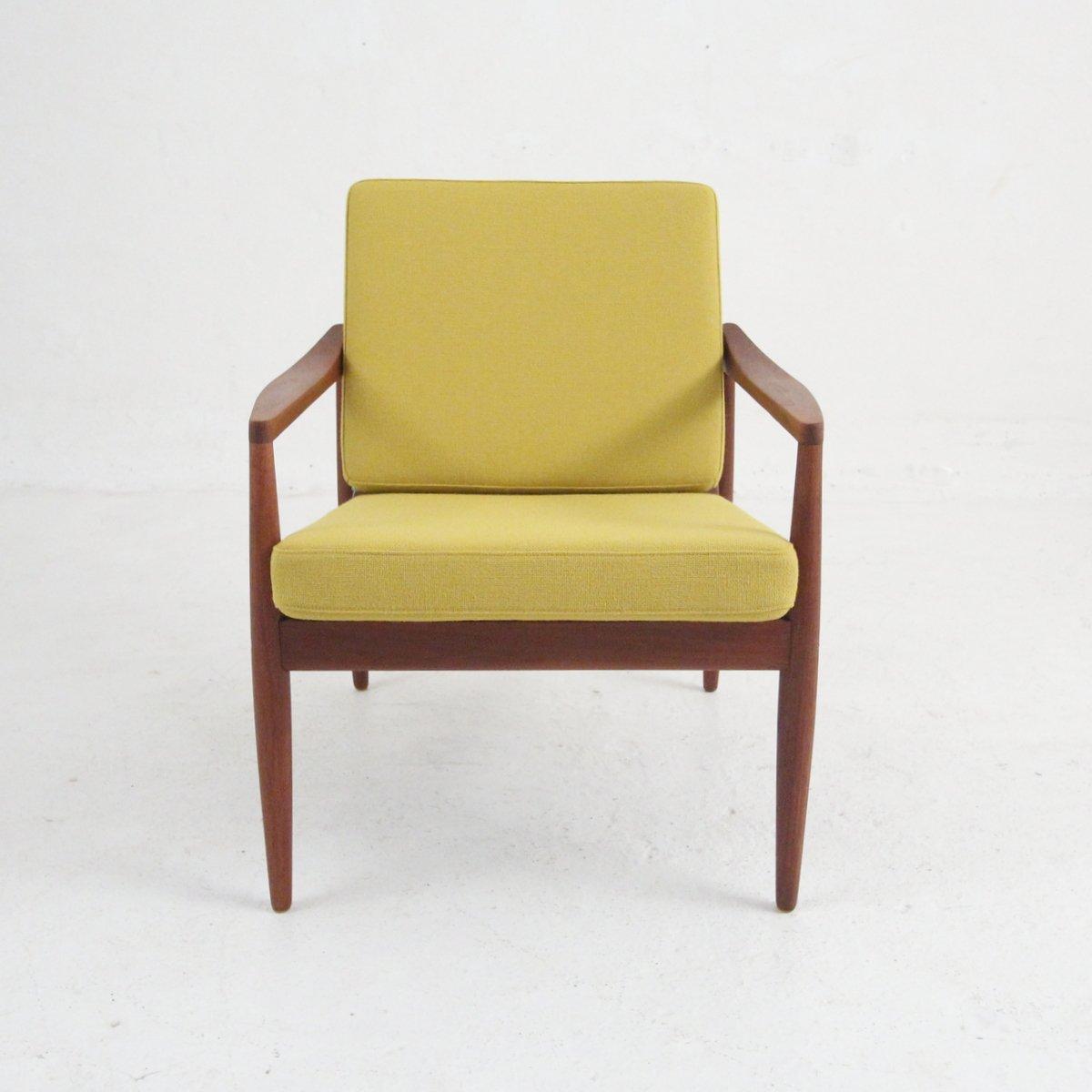 Danish Teak Amp Wool Armchair 1960s For Sale At Pamono