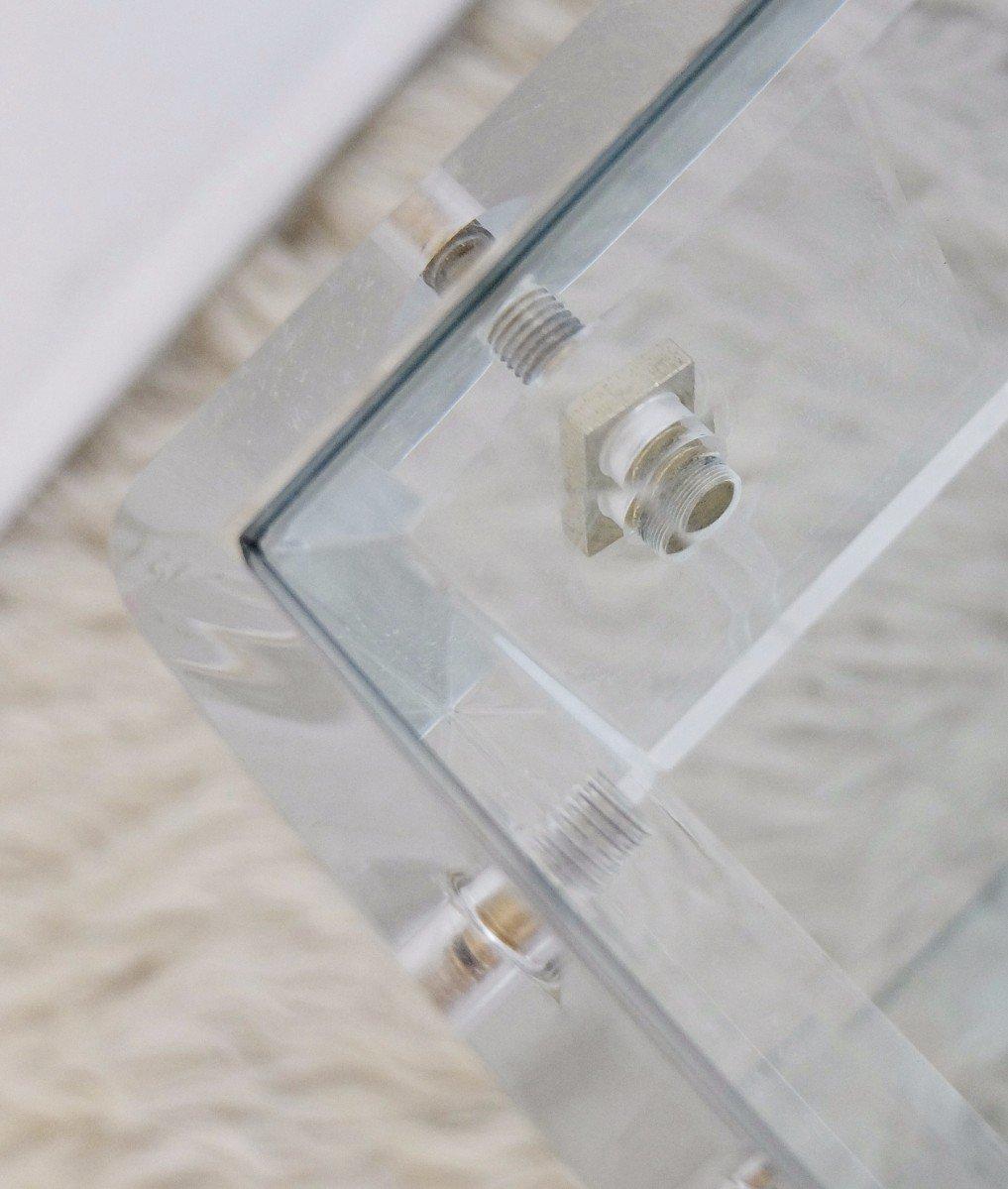 Zweistufiger vintage couchtisch aus plexiglas glas bei for Plexiglas couchtisch