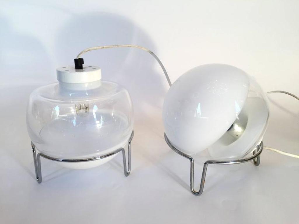lampen von angelo mangiarotti f r skipper 1980er 2er set. Black Bedroom Furniture Sets. Home Design Ideas