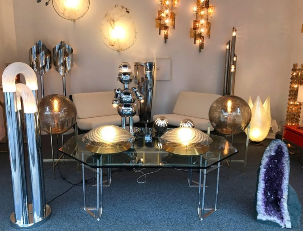 lampen von esperia 1970er 2er set bei pamono kaufen. Black Bedroom Furniture Sets. Home Design Ideas