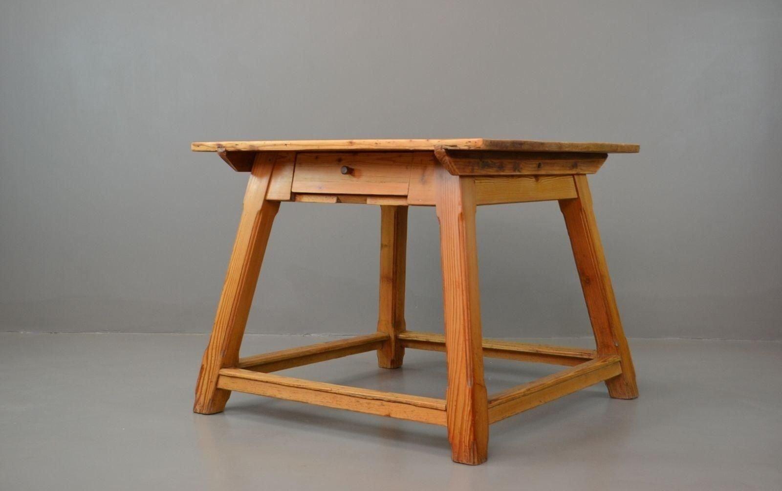 Vintage Arts U0026 Crafts Pine Dining Table