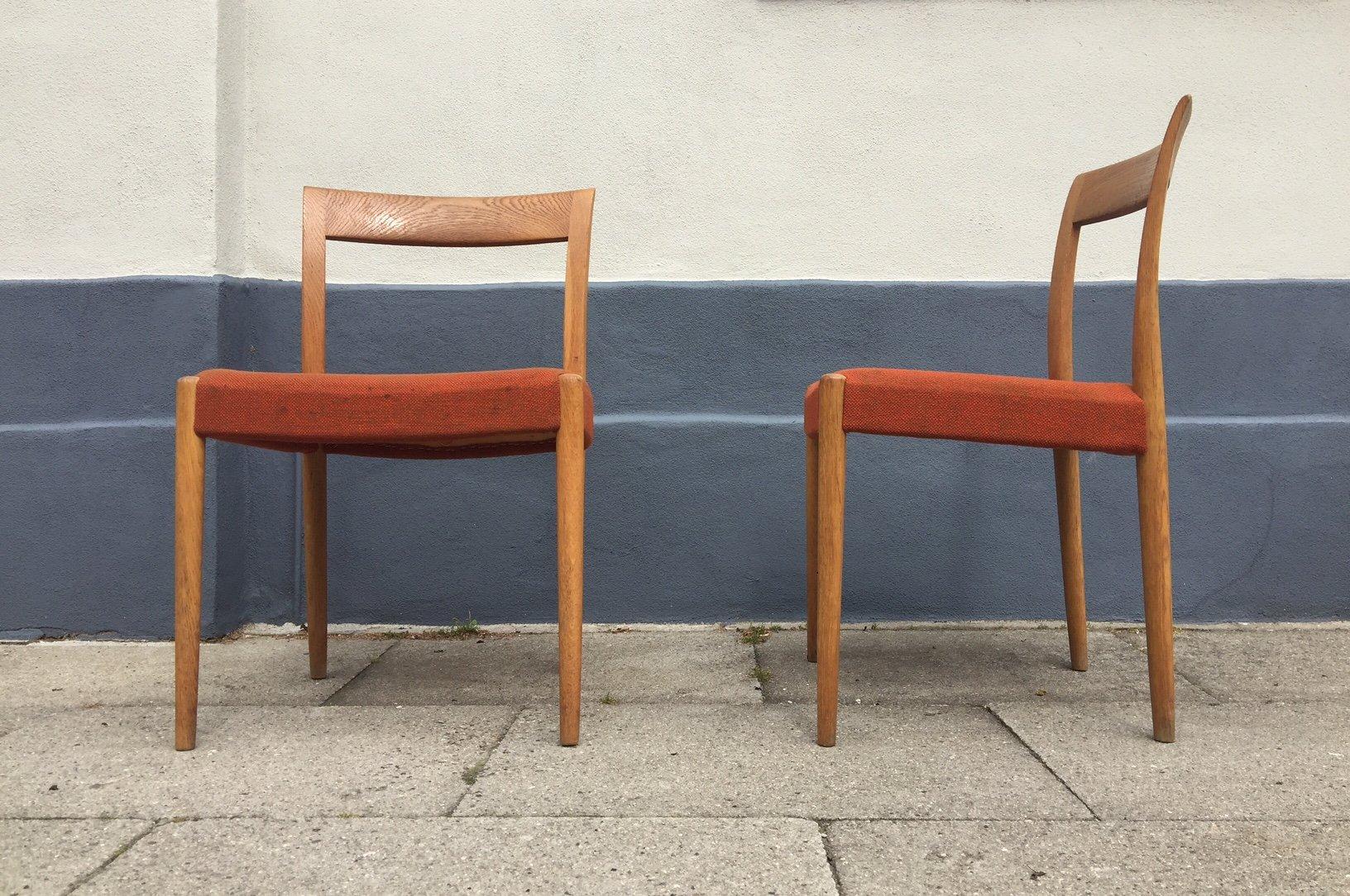 d nische eichenholz st hle von s ren willadsen 1960er 2er set bei pamono kaufen. Black Bedroom Furniture Sets. Home Design Ideas