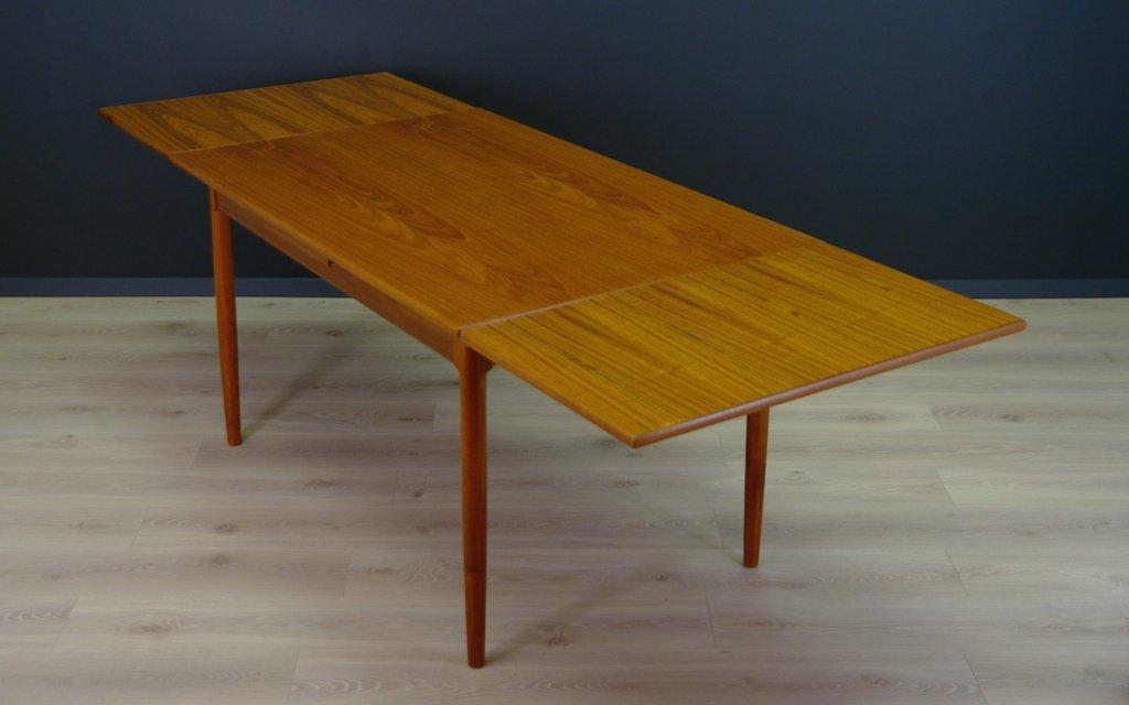 d nischer mid century teak furnier tisch bei pamono kaufen. Black Bedroom Furniture Sets. Home Design Ideas