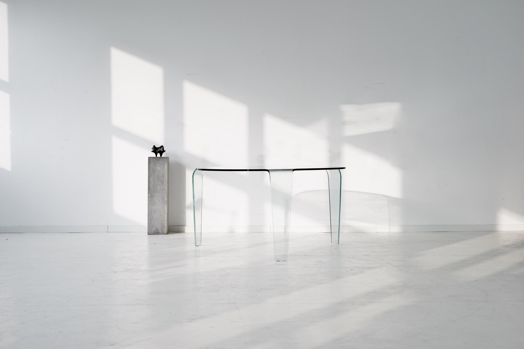 vintage glass table from roche bobois for sale at pamono. Black Bedroom Furniture Sets. Home Design Ideas