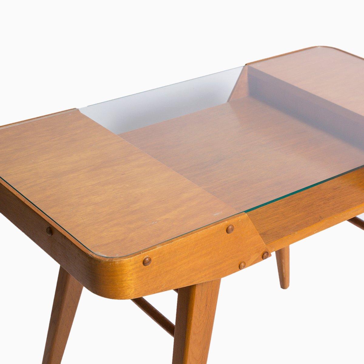 table d 39 appoint mid century avec plateau en verre en vente sur pamono. Black Bedroom Furniture Sets. Home Design Ideas