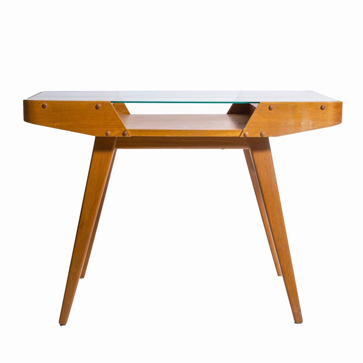 table d 39 appoint mid century avec plateau en verre en vente. Black Bedroom Furniture Sets. Home Design Ideas