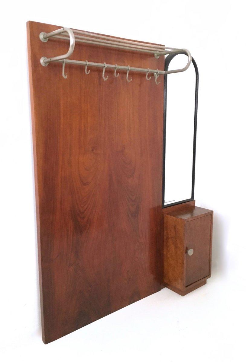 porte manteau art d co en acajou italie 1940s en vente sur pamono. Black Bedroom Furniture Sets. Home Design Ideas