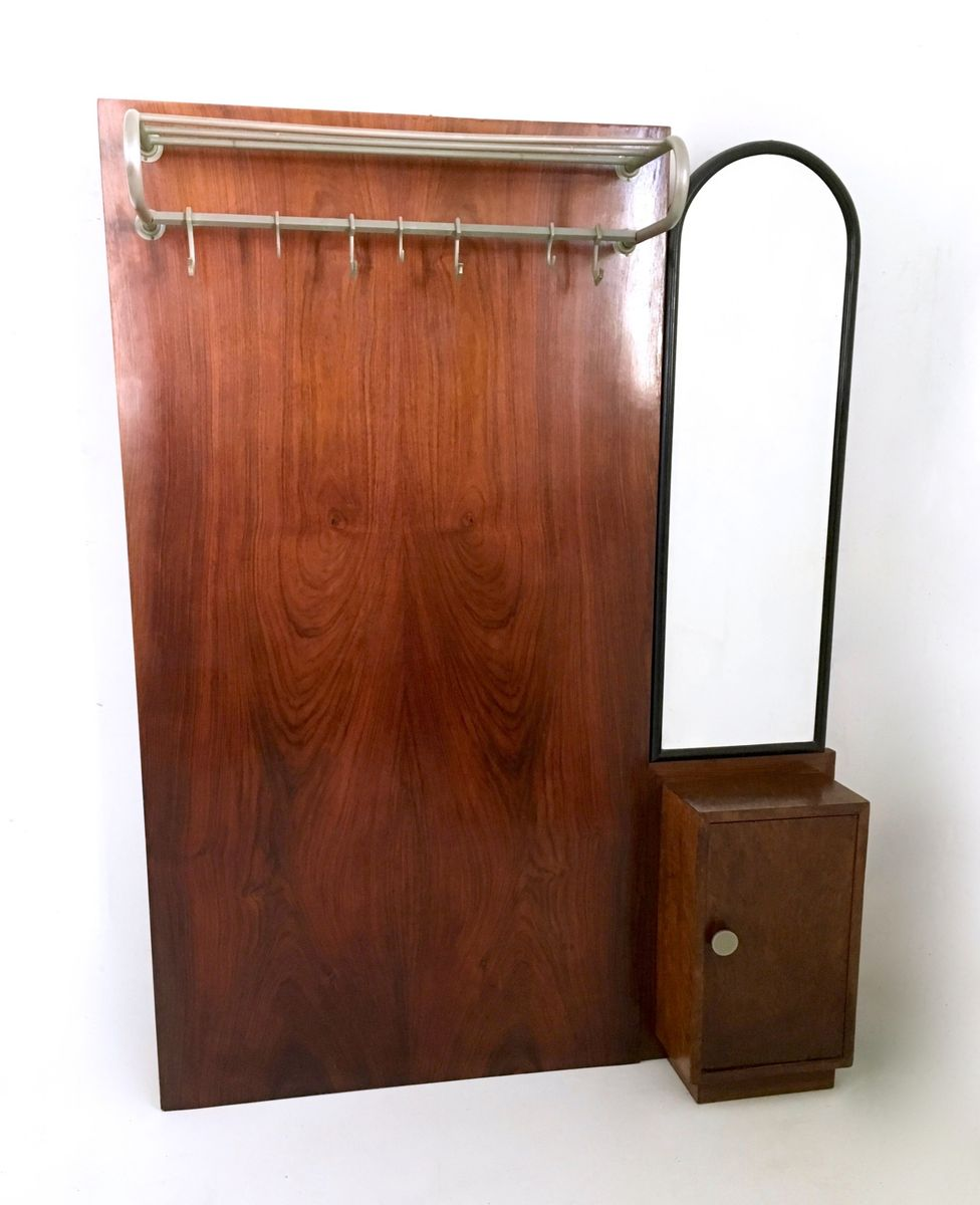 italienische art deco garderobe aus mahagoni 1940er bei pamono kaufen. Black Bedroom Furniture Sets. Home Design Ideas