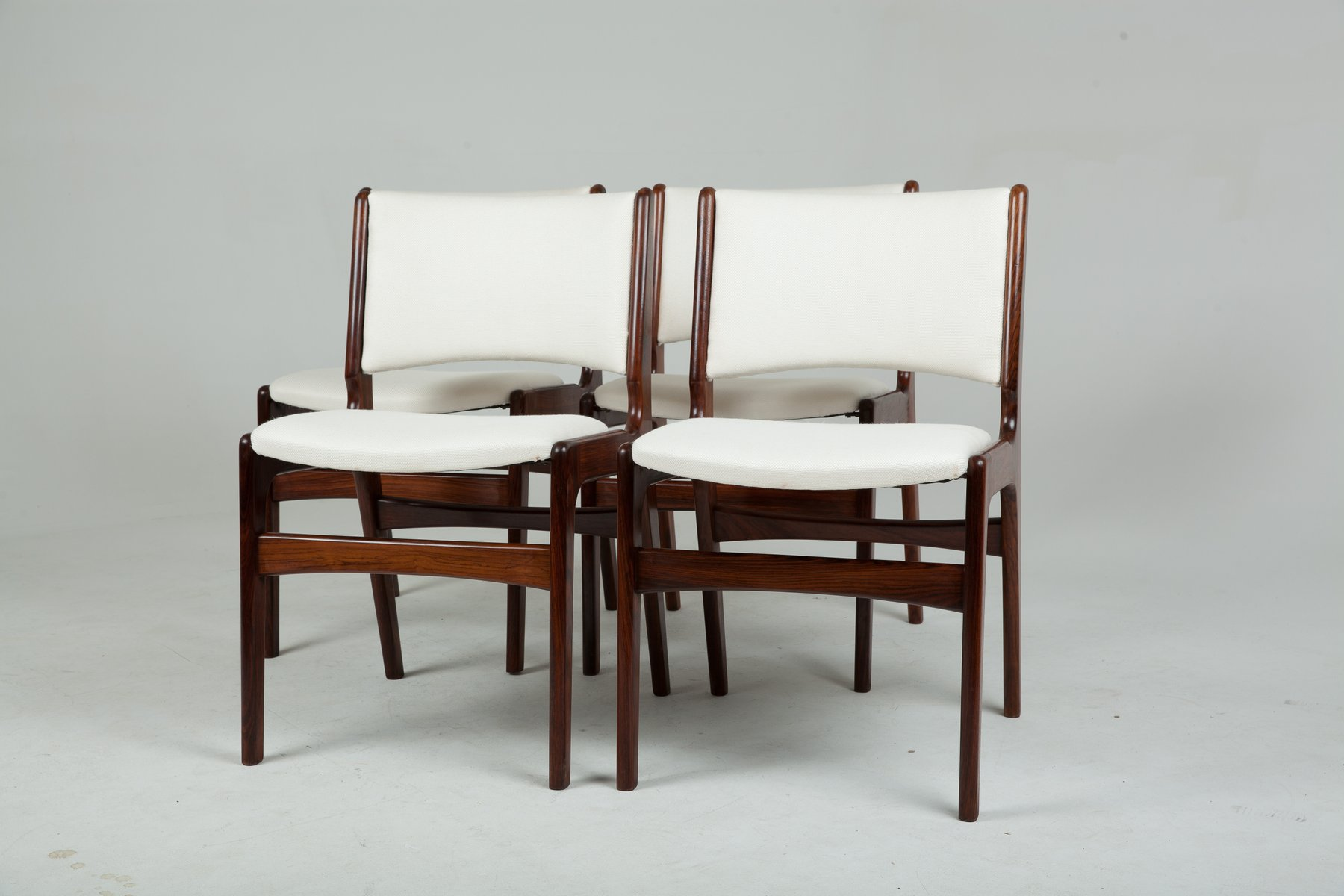 Solid Rosewood Chairs by Erik Buch 1960s Set of 4 for sale at Pamono