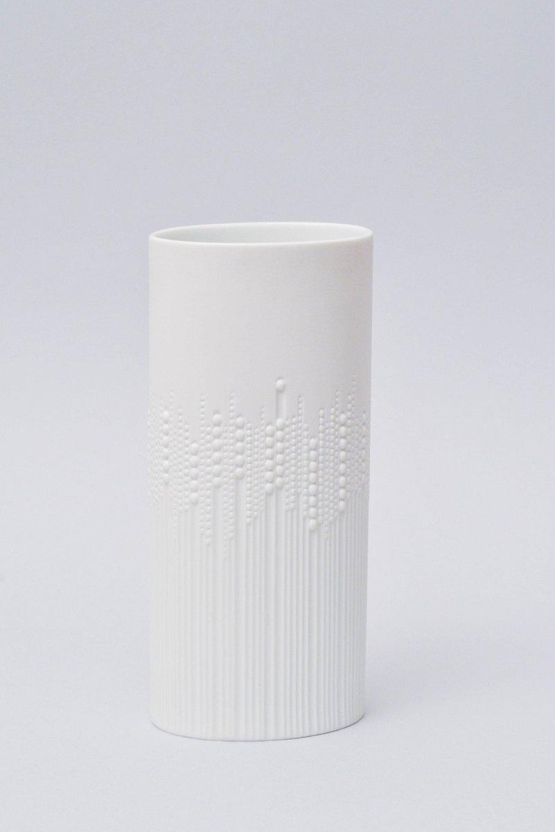 wei e vintage vase aus biskuitporzellan von tapio wirkkala. Black Bedroom Furniture Sets. Home Design Ideas