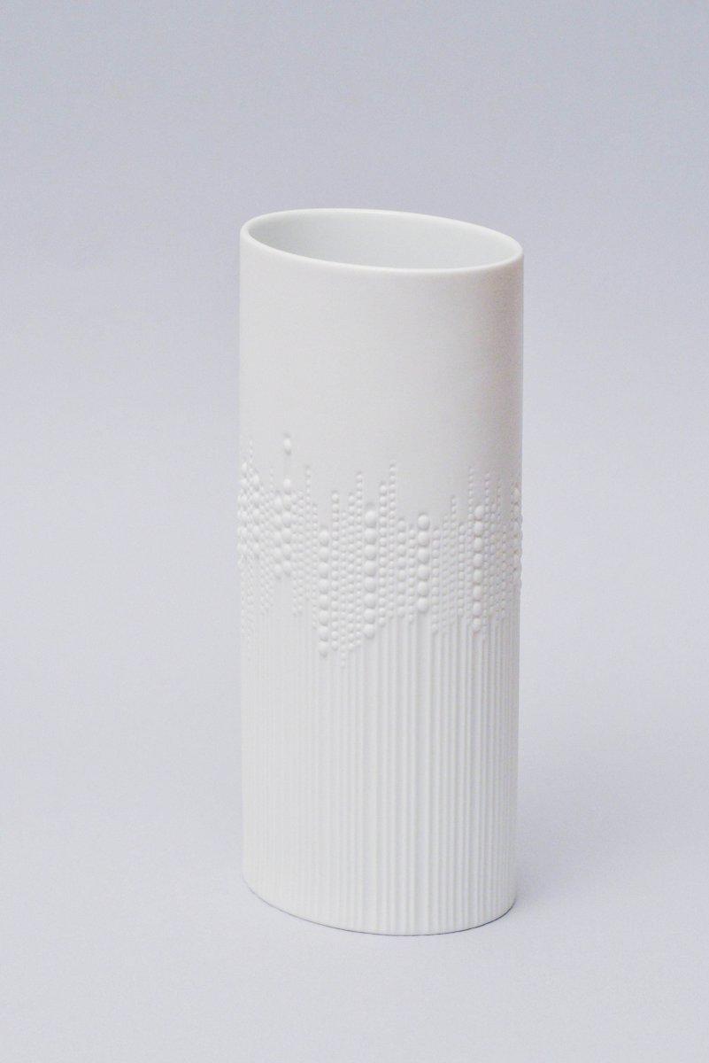 wei e vintage vase aus biskuitporzellan von tapio wirkkala f r rosenthal bei pamono kaufen. Black Bedroom Furniture Sets. Home Design Ideas