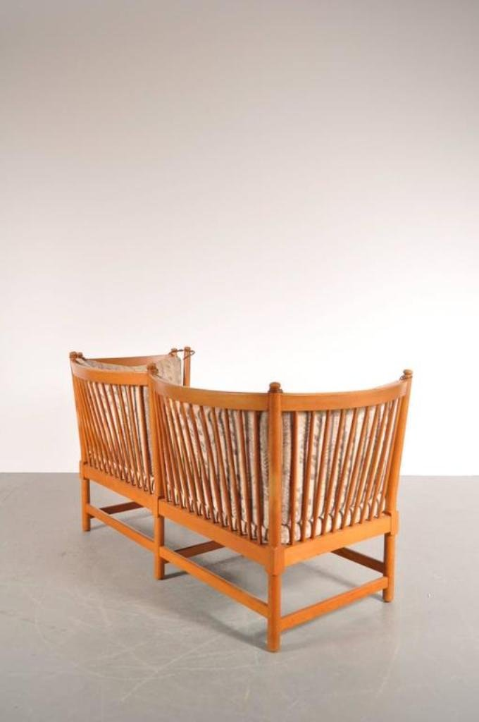 Danish Spoke Back Sofa By B 248 Rge Mogensen For Fritz Hansen