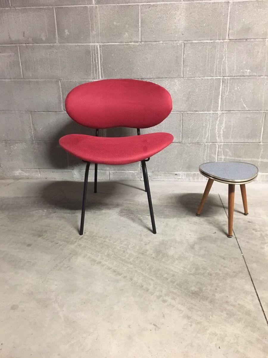 cocktail sessel aus rotem samt 1950er bei pamono kaufen. Black Bedroom Furniture Sets. Home Design Ideas