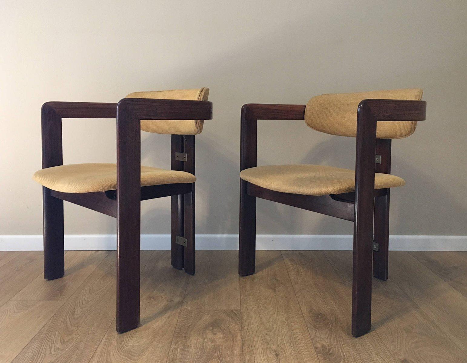 vintage pamplona st hle aus palisander von savini f r pozzi bei pamono kaufen. Black Bedroom Furniture Sets. Home Design Ideas