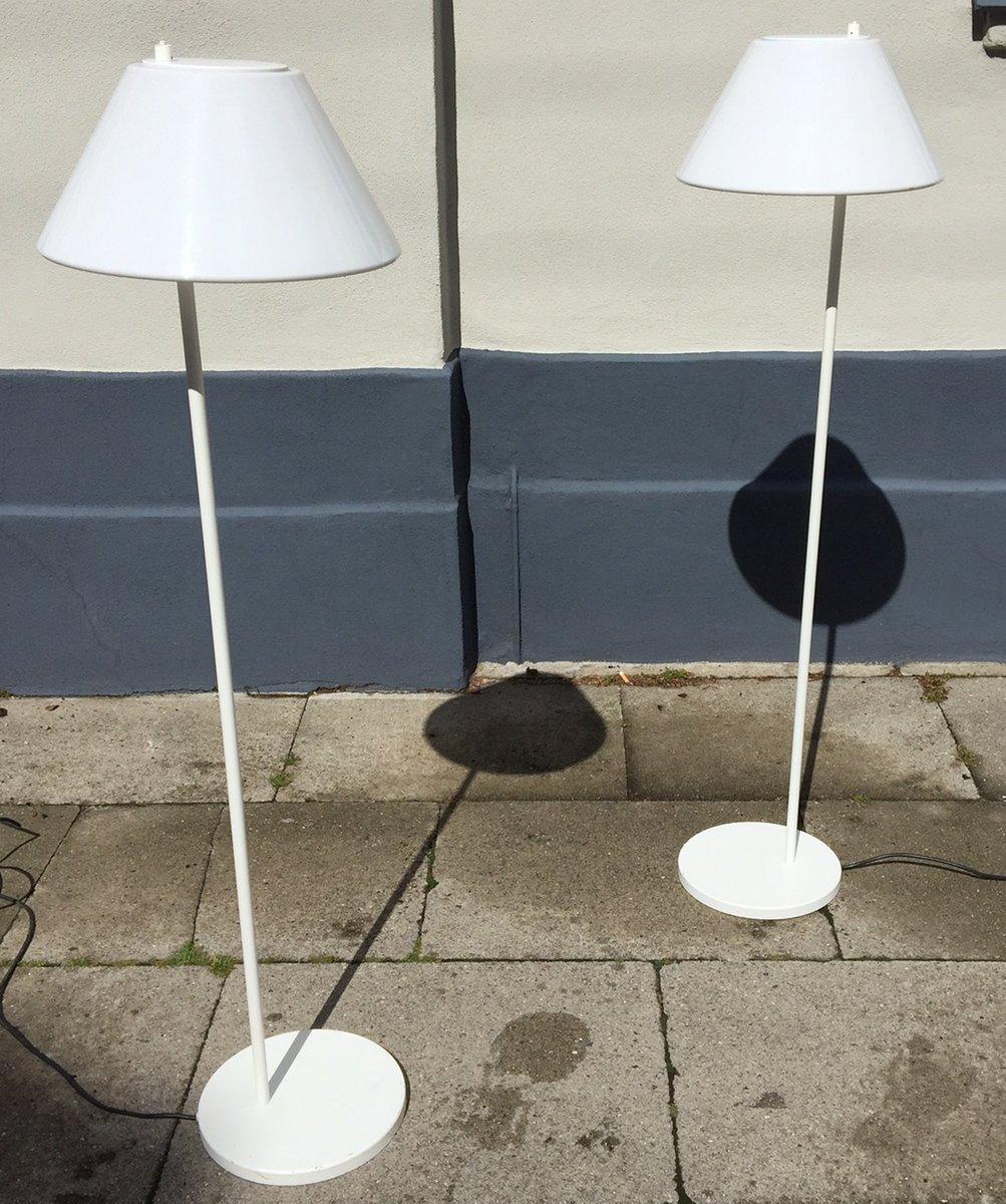 wei e minimalistische d nische combi stehlampen von per iversen f r louis poulsen 1980er 2er. Black Bedroom Furniture Sets. Home Design Ideas