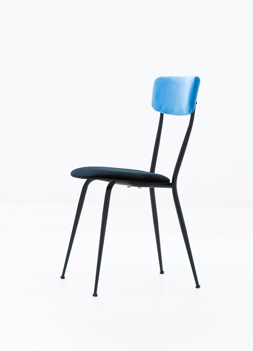 italienische st hle aus eisen samt 1950er 6er set bei pamono kaufen. Black Bedroom Furniture Sets. Home Design Ideas