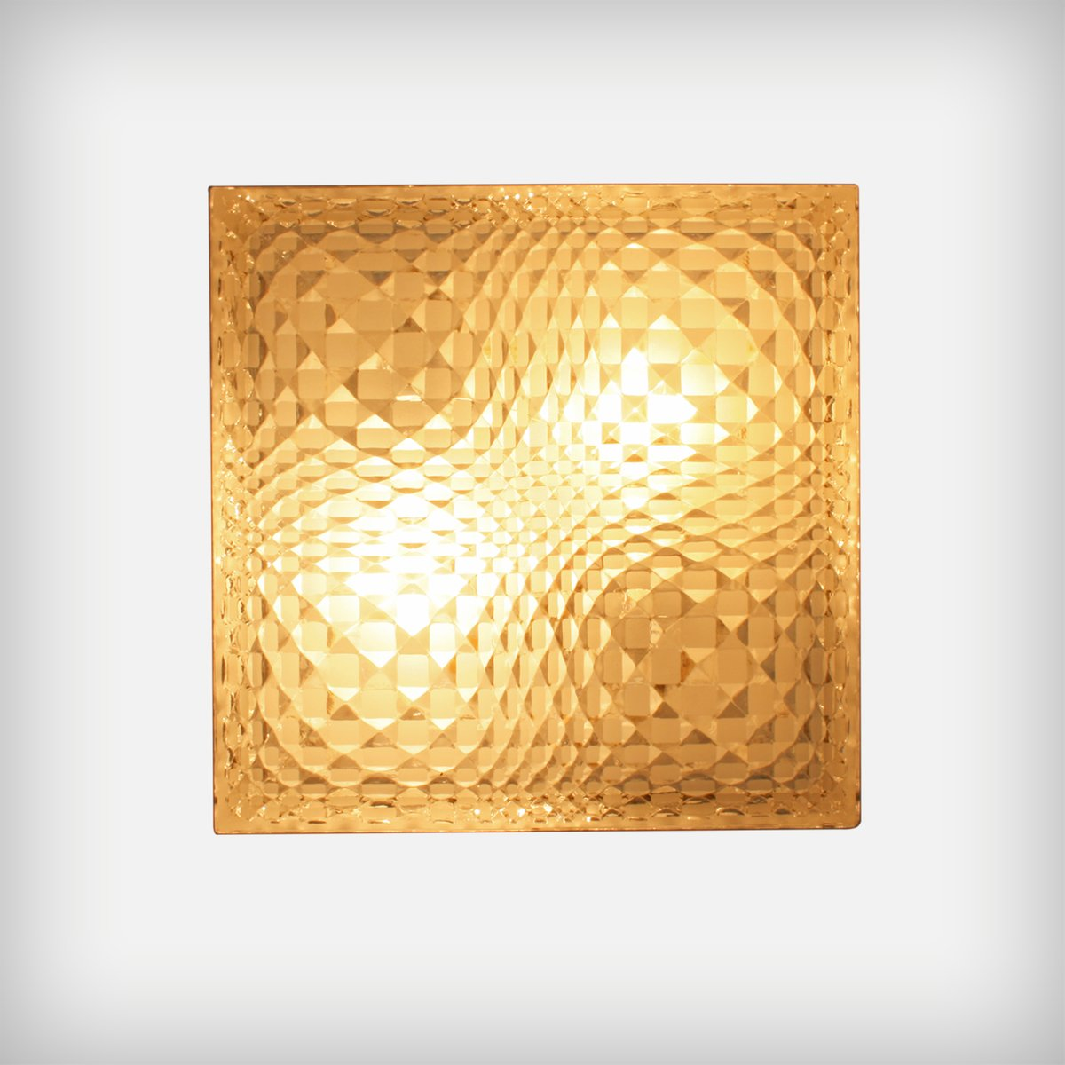 German Geometrical Glass Wall Or Ceiling Lamp From Wila 1960s
