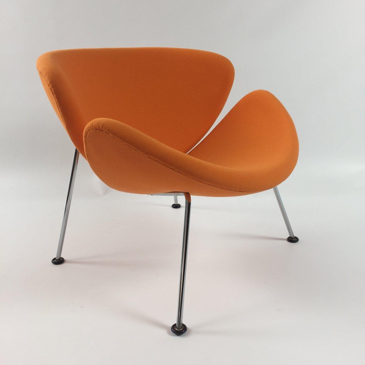 Fauteuil Orange Slice Vintage Par Pierre Paulin Pour Artifort En - Fauteuil orange