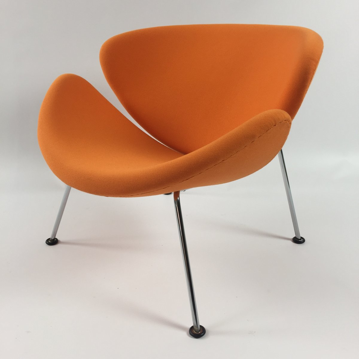 Exceptional Vintage Orange Slice Lounge Chair By Pierre Paulin For Artifort