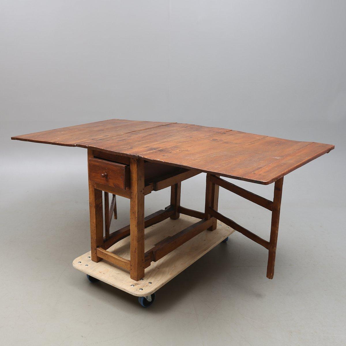 Tavolo antico allungabile in quercia, Svezia in vendita su Pamono