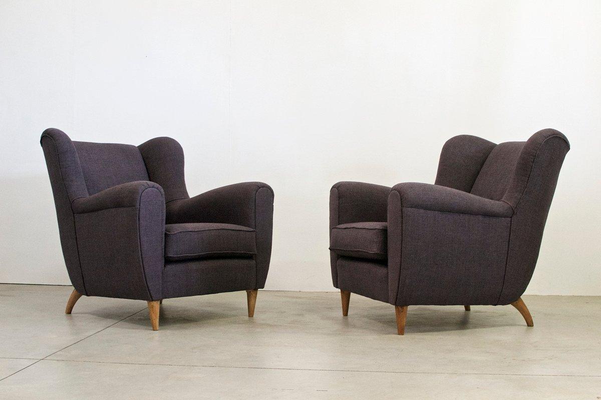 italienische vintage sessel 2er set bei pamono kaufen. Black Bedroom Furniture Sets. Home Design Ideas