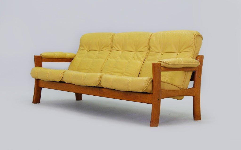 d nisches mid century sofa in gelb bei pamono kaufen. Black Bedroom Furniture Sets. Home Design Ideas