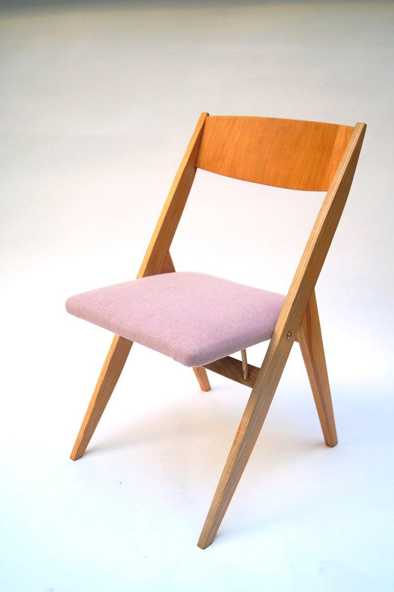 polnische esche esszimmerst hle von czes aw knothe f r rzut 1967 4er set bei pamono kaufen. Black Bedroom Furniture Sets. Home Design Ideas
