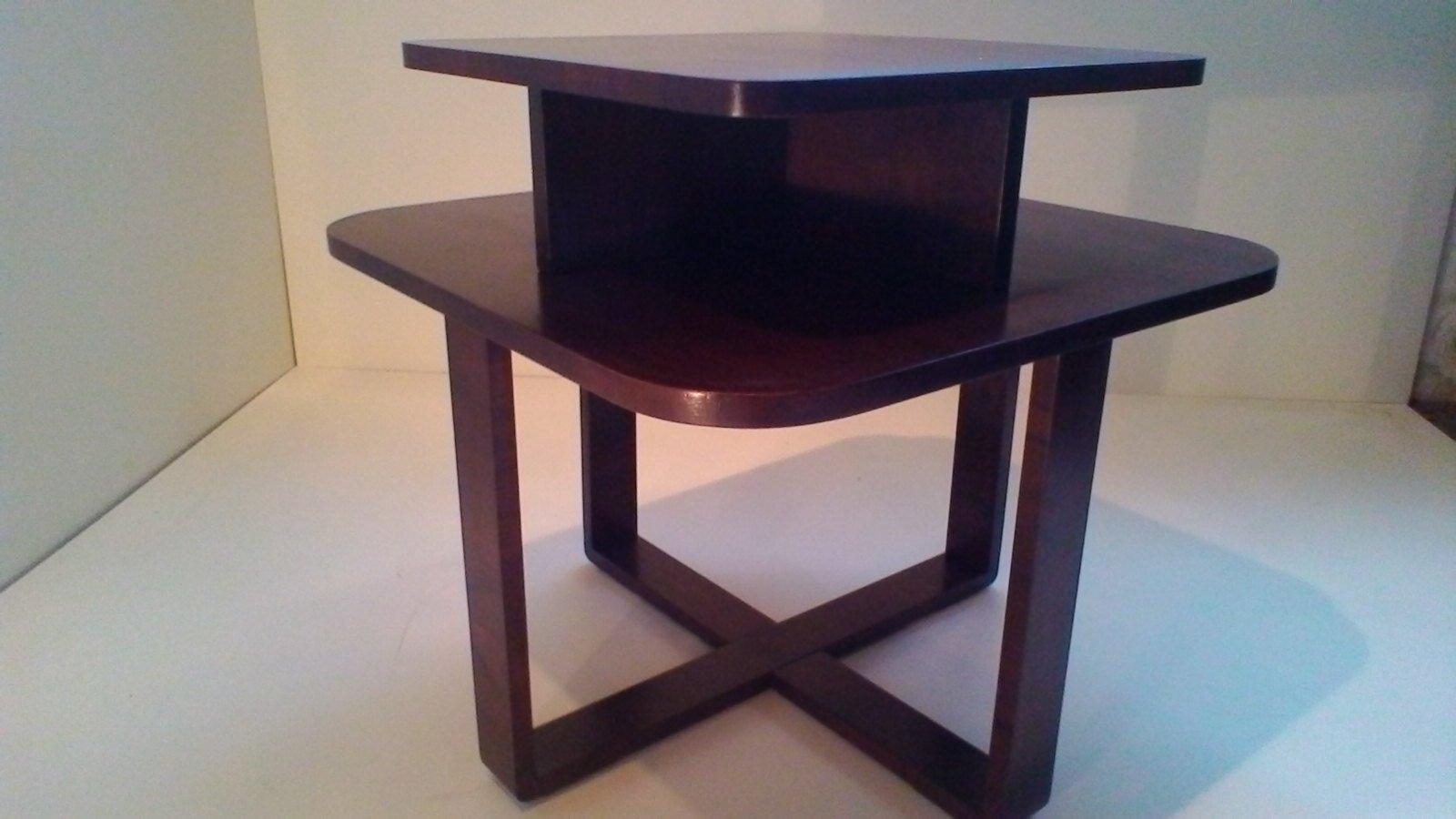 rechteckiger art deco bugholz couchtisch bei pamono kaufen. Black Bedroom Furniture Sets. Home Design Ideas