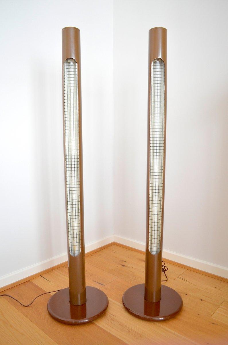 Pop Art Column Floor Lamps, 1970s, Set of 2 for sale at Pamono