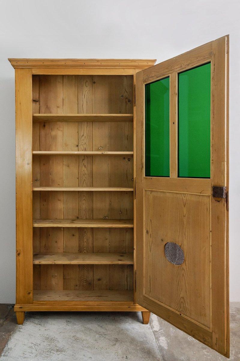 Antique Wooden Kitchen Storage Cabinet for sale at Pamono