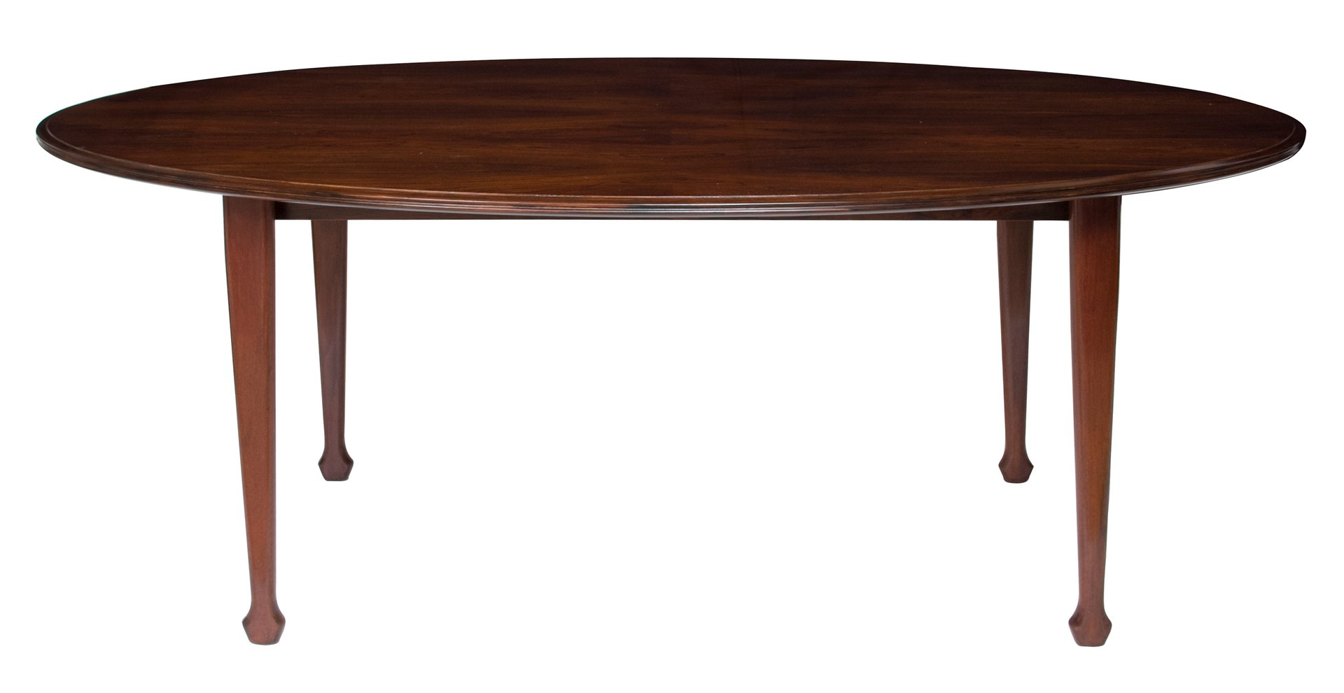 Oval Rosewood Dining Table By Andrew J. Milne, 1960s