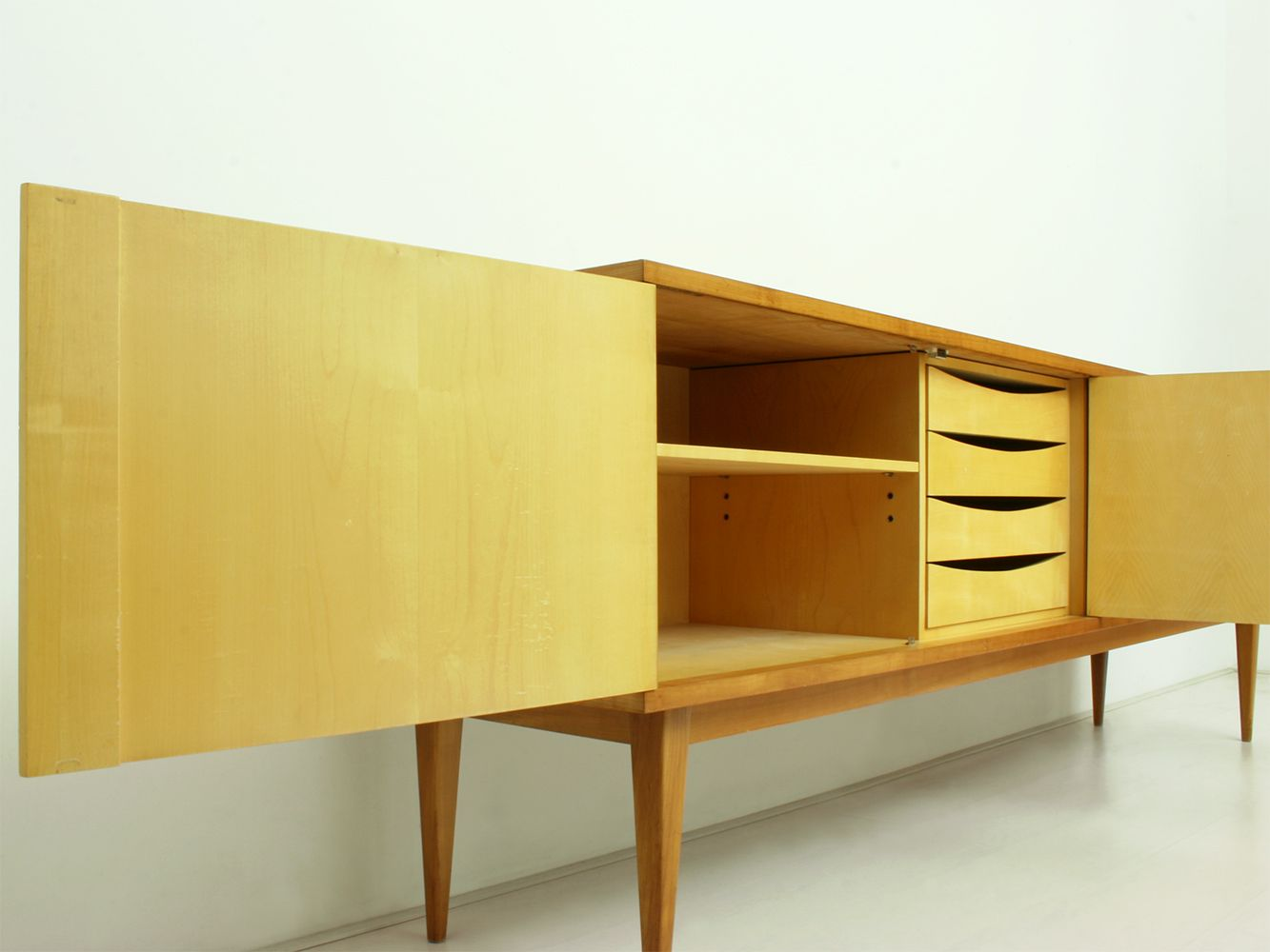 german cherrywood sideboard by wolfgang weber for wk m bel 1962 for sale at pamono. Black Bedroom Furniture Sets. Home Design Ideas