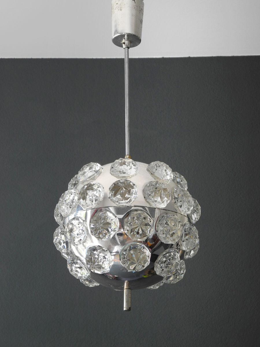 Space age chrome ball ceiling lamp 1960s for sale at pamono mozeypictures Gallery