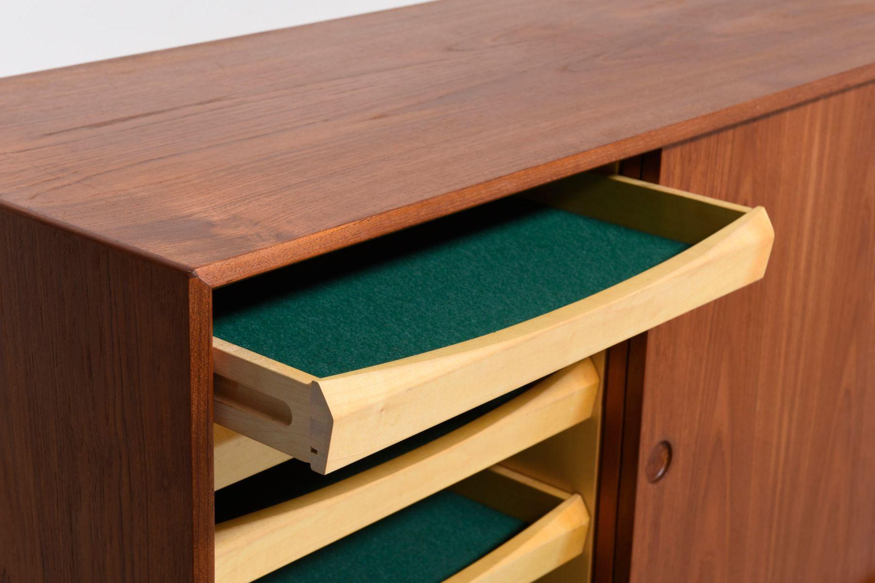 enfilade vintage en teck danemark en vente sur pamono. Black Bedroom Furniture Sets. Home Design Ideas