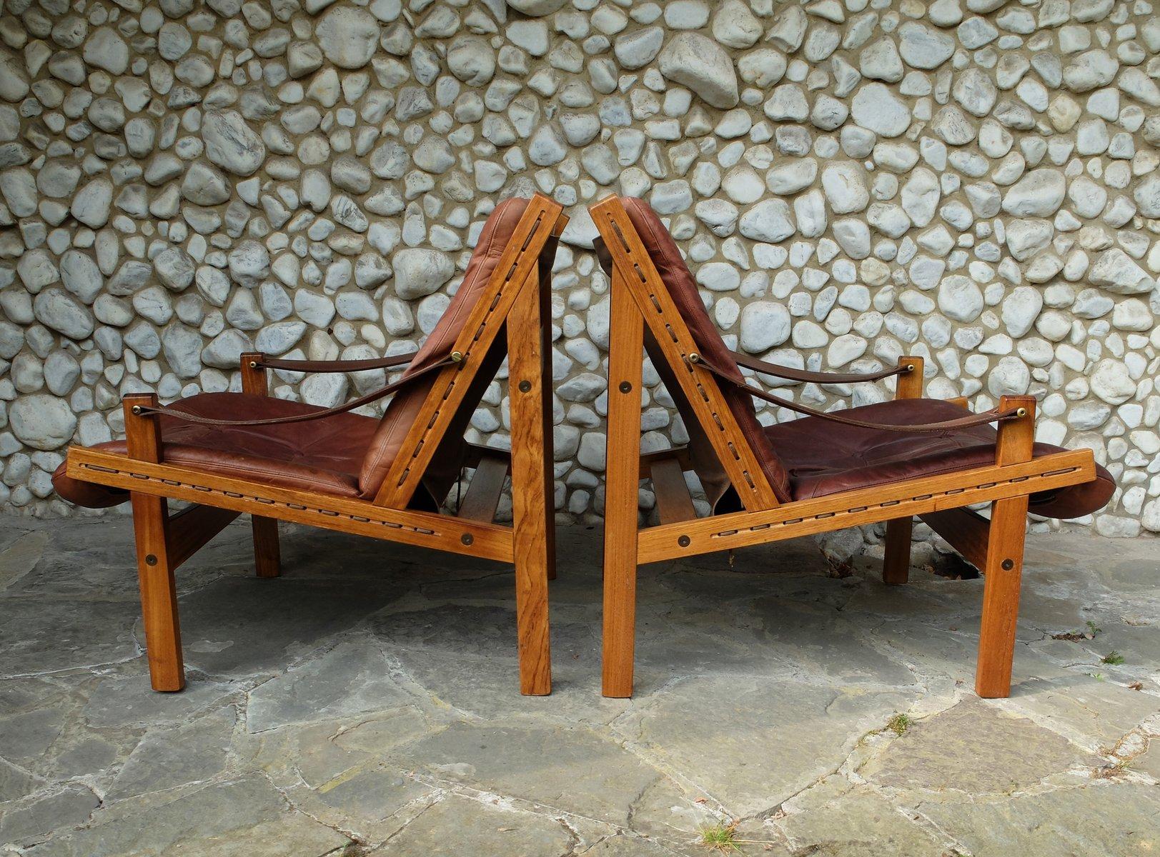 scandinavian outdoor furniture. Scandinavian Hunter Lounge Chairs By Torbjørn Afdal For Bruksbo, 1960s, Set Of 2 Outdoor Furniture