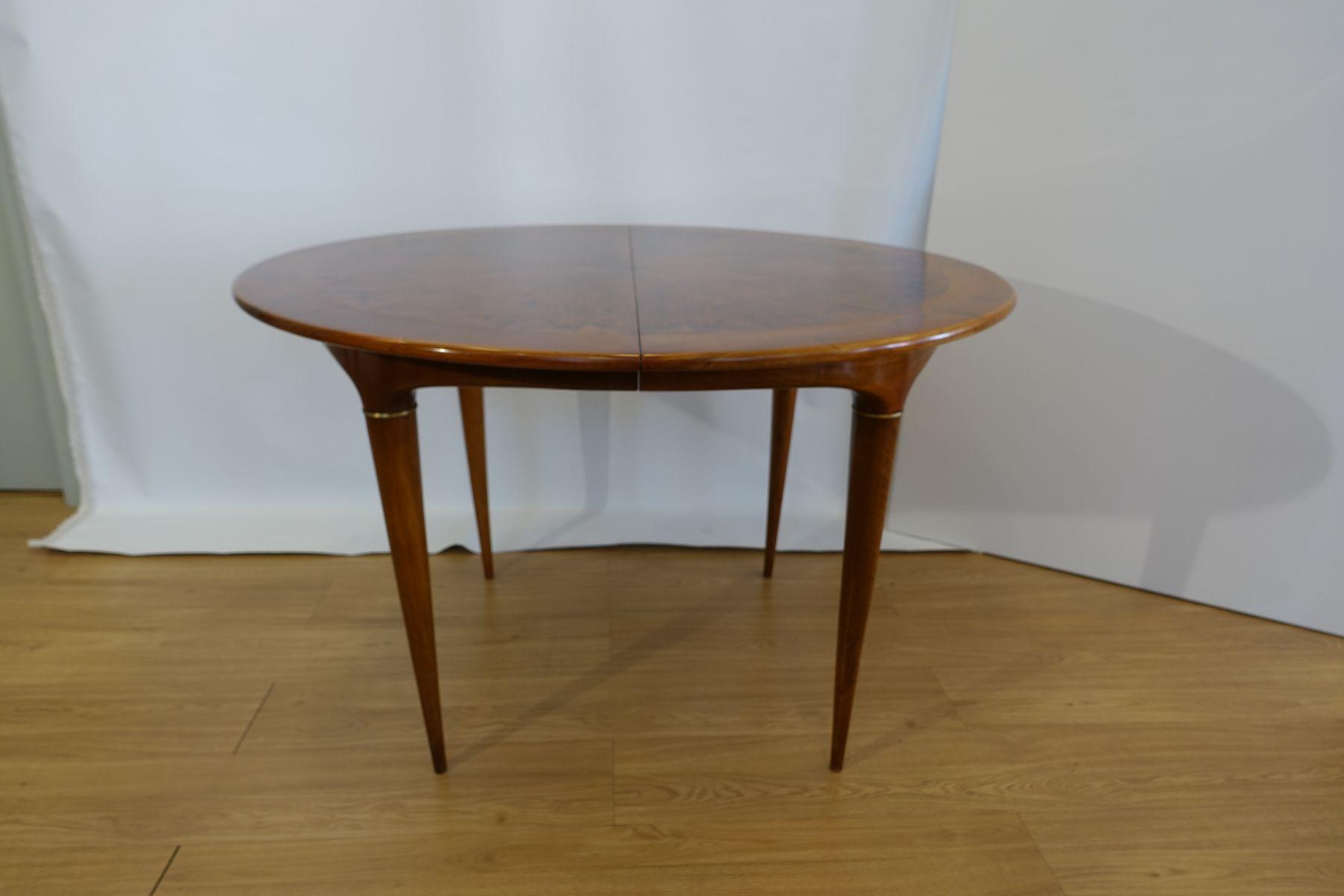 Round walnut dining table by jos cruz de carvalho for altamira round walnut dining table by jos cruz de carvalho for altamira 1950s dzzzfo