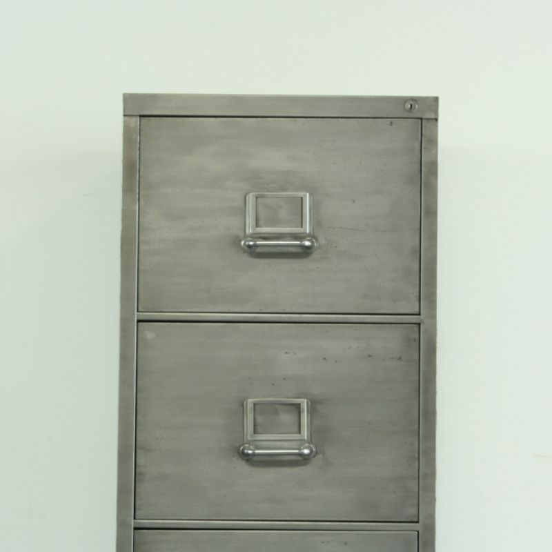 Vintage Polished Steel 4 Drawer Filing Cabinet 6. $1,089.00. Price Per Piece