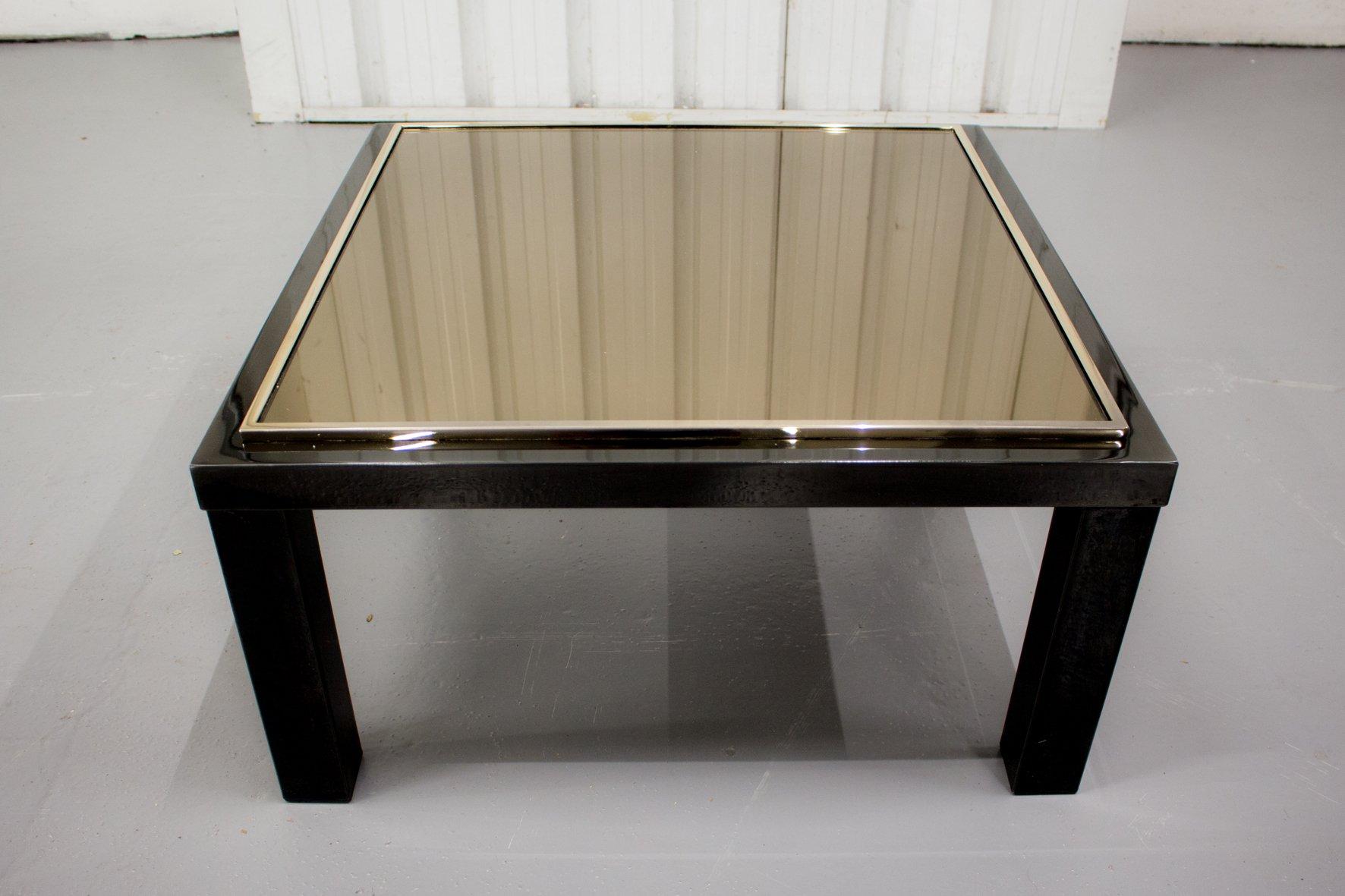 Vintage Black Side Table with 23 Karat Gold Rimmed Top from Belgo ...