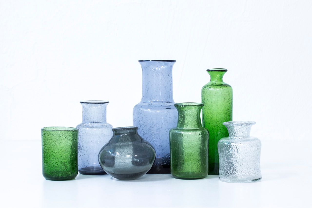 Swedish glass vases by erik hglund for boda 1950s set of 7 for swedish glass vases by erik hglund for boda 1950s set of 7 floridaeventfo Image collections