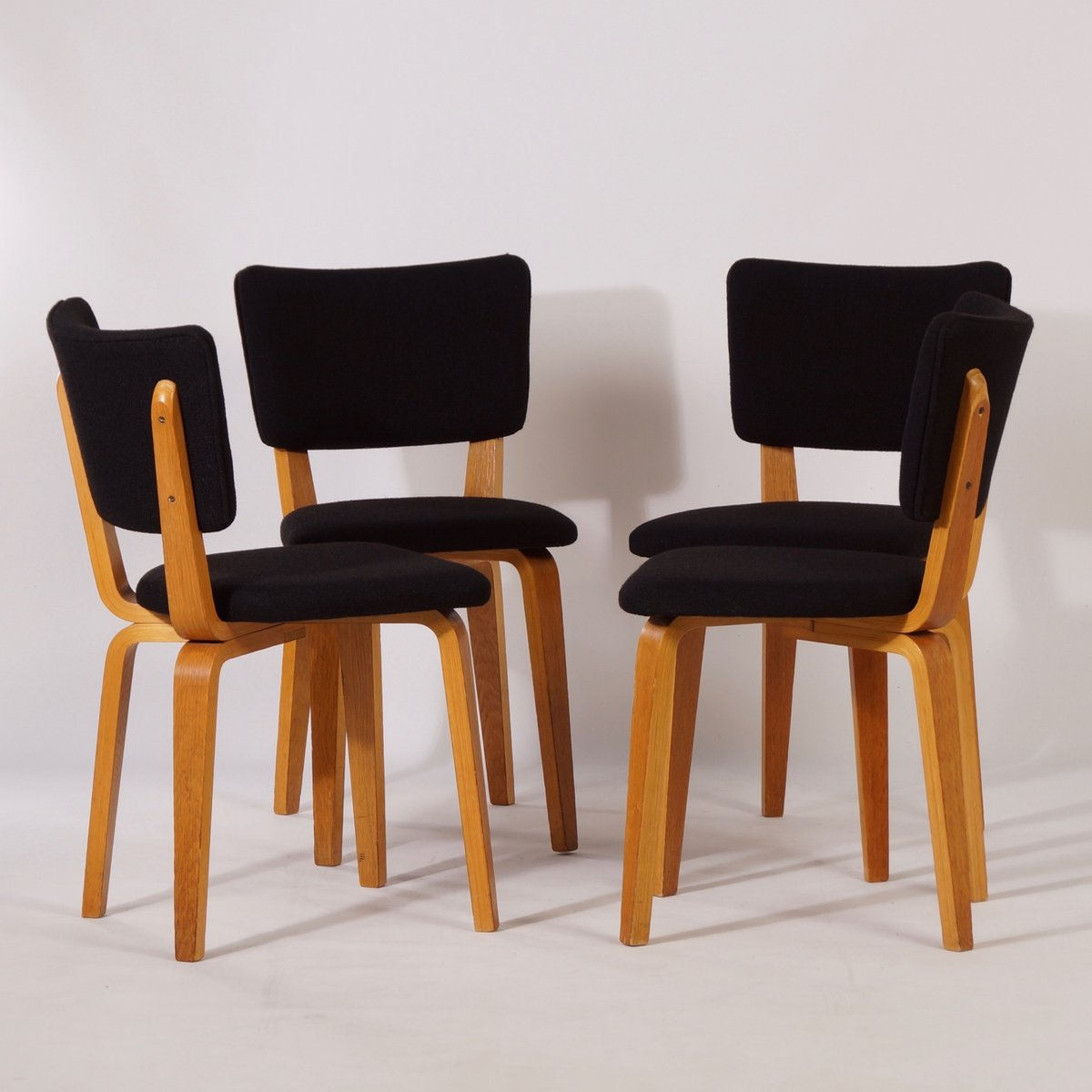 birch dining chairs vintage birch dining chairs by cor alons for den boer 1660
