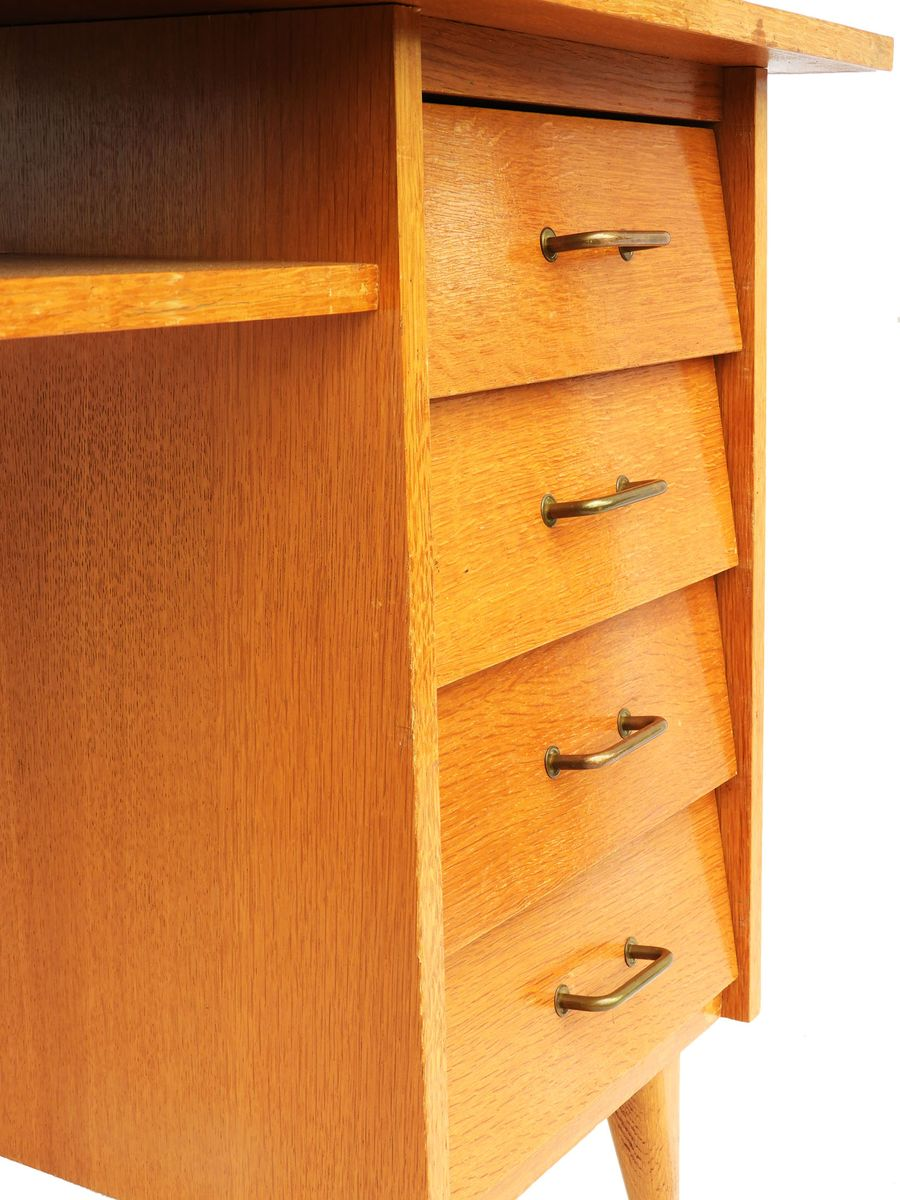 franz sischer mid century schreibtisch 1950er bei pamono kaufen. Black Bedroom Furniture Sets. Home Design Ideas