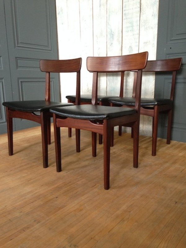 skandinavische vintage skai st hle 4er set bei pamono kaufen. Black Bedroom Furniture Sets. Home Design Ideas