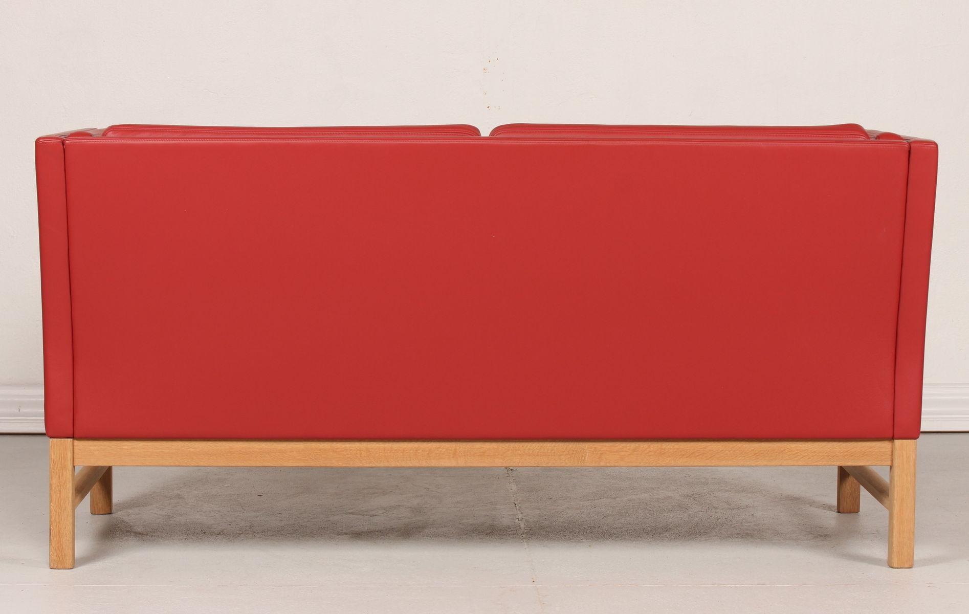 d nisches rotes ej 315 2 ledersofa von erik ole j rgensen 1980er bei pamono kaufen. Black Bedroom Furniture Sets. Home Design Ideas