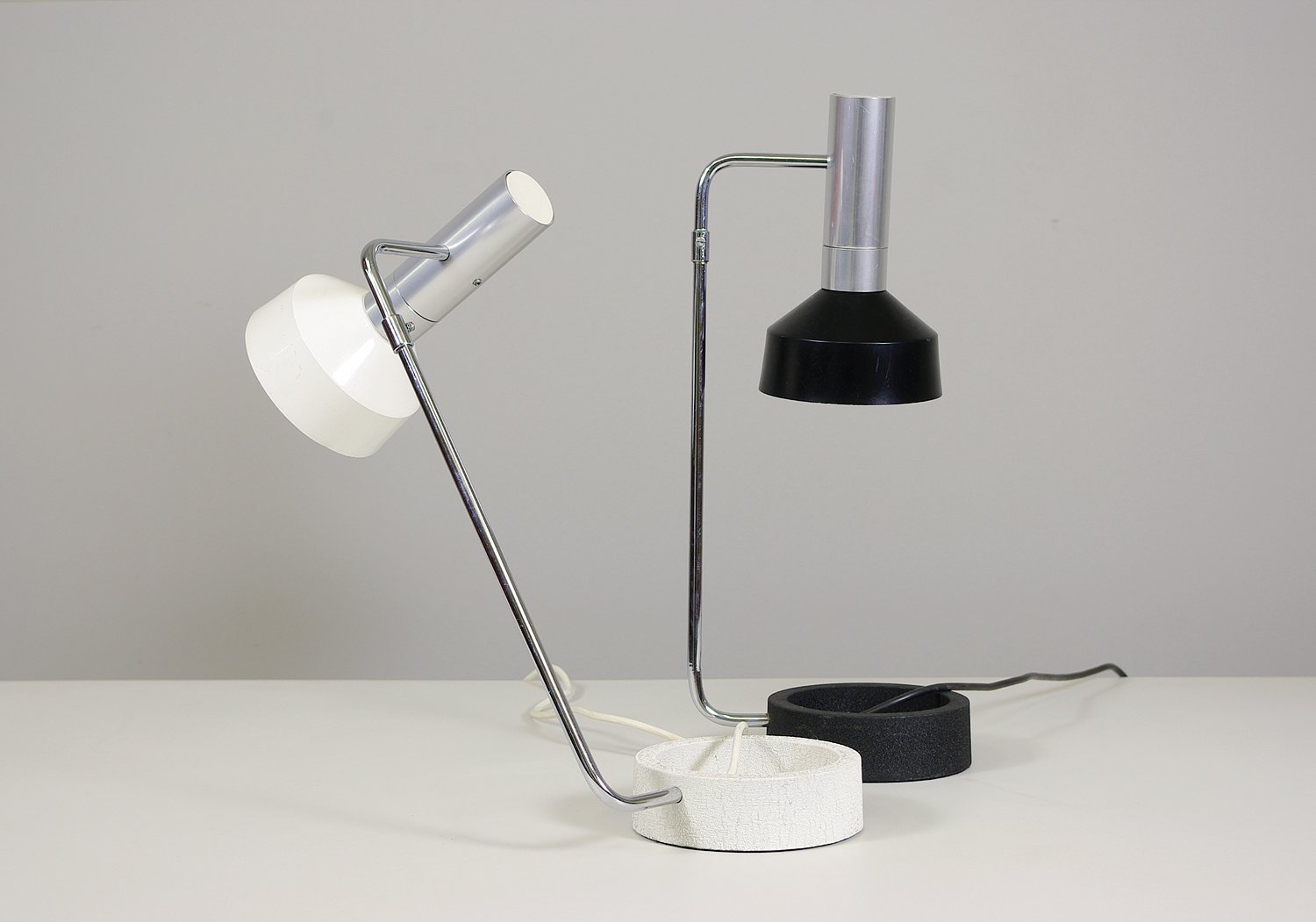 Swiss Table Lamps by Rosemarie & Rico Baltensweiler, 1961, Set of 2 ...
