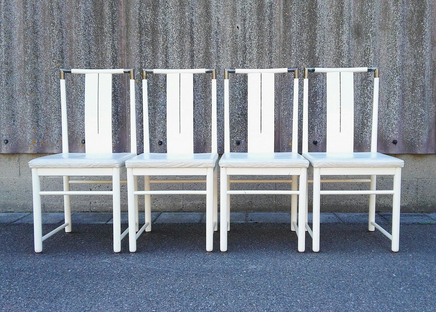italienische esszimmerst hle 1960er 4er set bei pamono kaufen. Black Bedroom Furniture Sets. Home Design Ideas