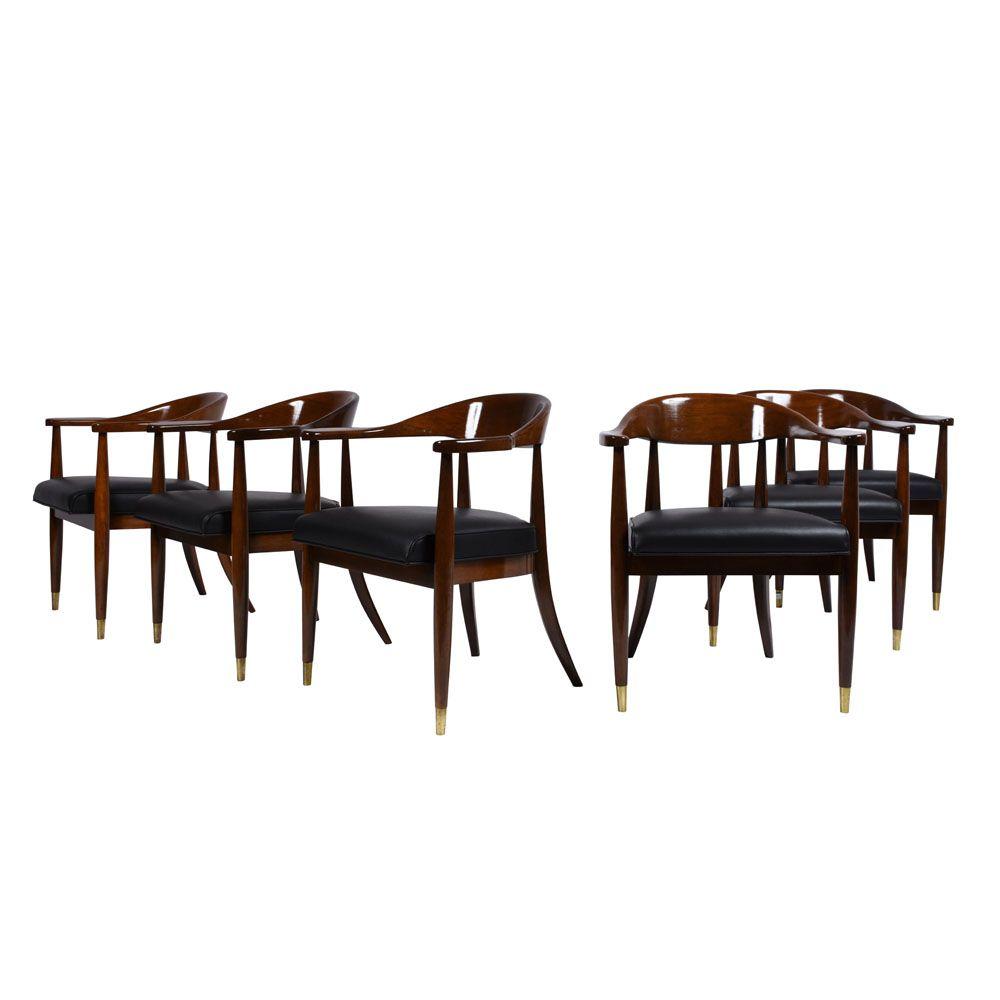 mid century esszimmerst hle 6er set bei pamono kaufen. Black Bedroom Furniture Sets. Home Design Ideas