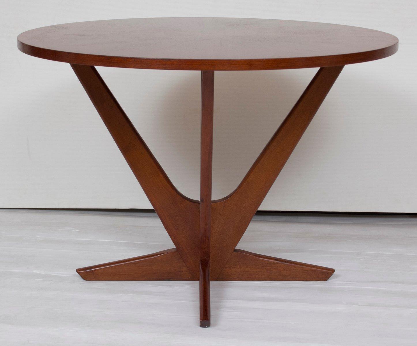 teak starburst couchtisch von s ren georg jensen f r kubus. Black Bedroom Furniture Sets. Home Design Ideas